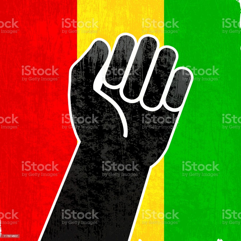 Black power on royalty free vector Background royalty-free stock vector art