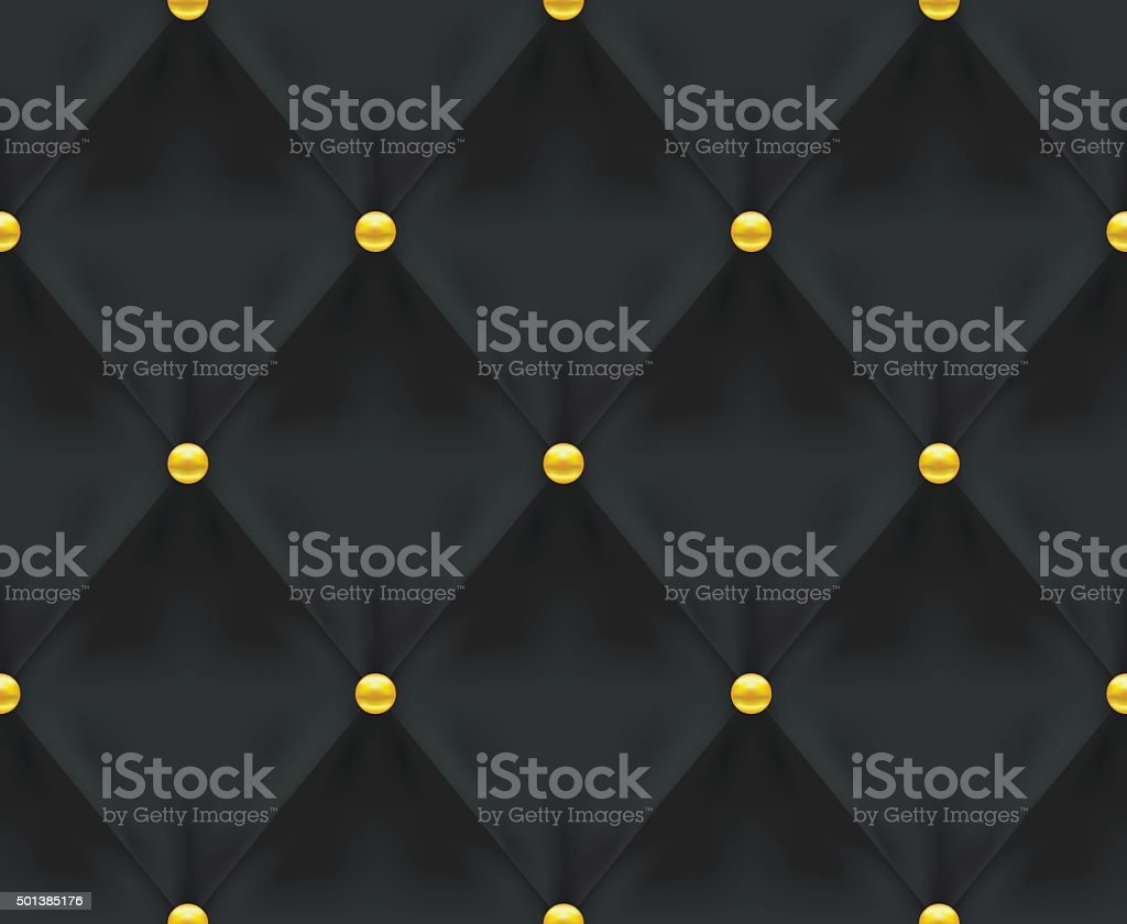 Black Quilted Seamless Vector Pattern vector art illustration