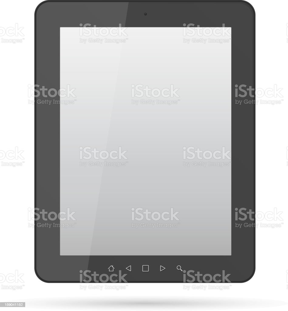 Black Realistic tablet pc computer royalty-free stock vector art