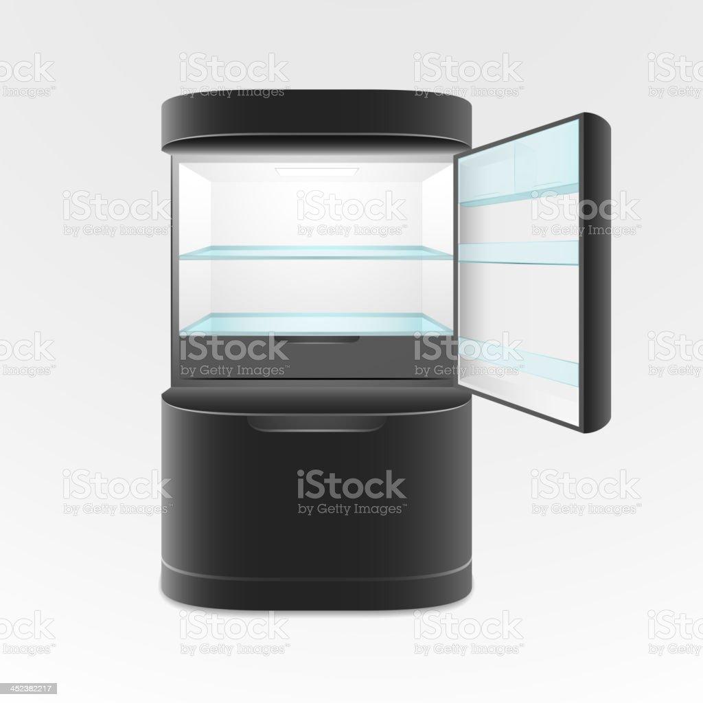 Black refrigerator royalty-free stock vector art