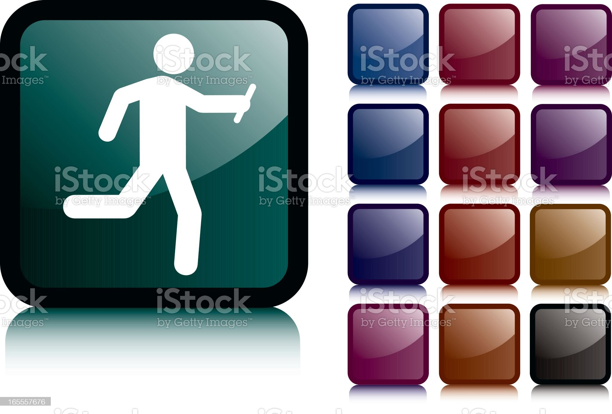 Black Relay Man Icon royalty-free stock vector art