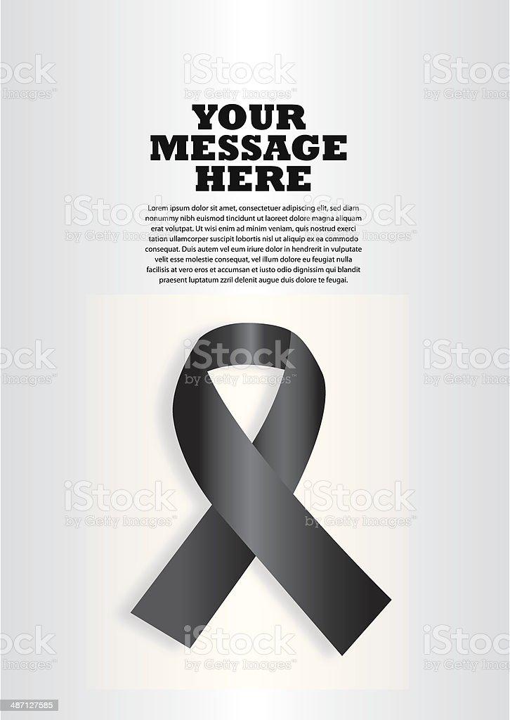 Black Ribbon Layout Design vector art illustration