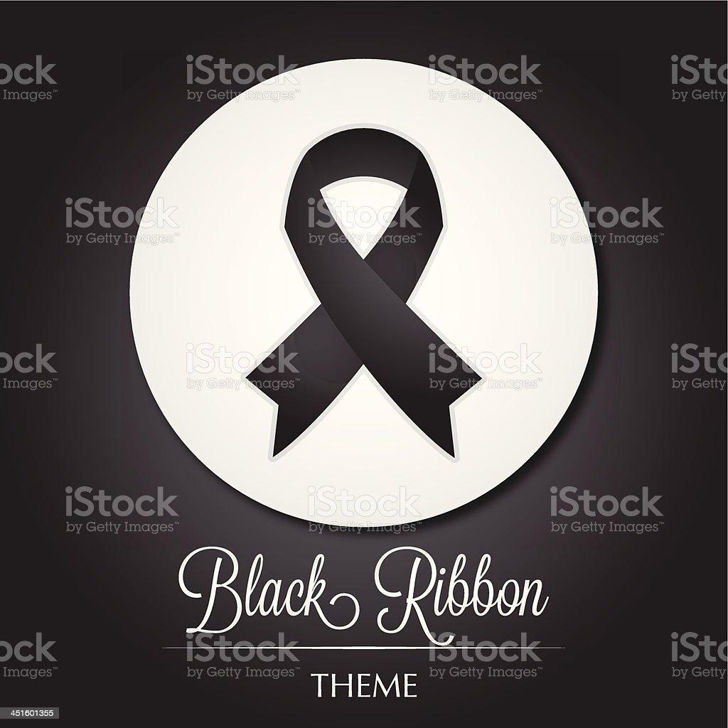 Black Ribbon Theme vector art illustration