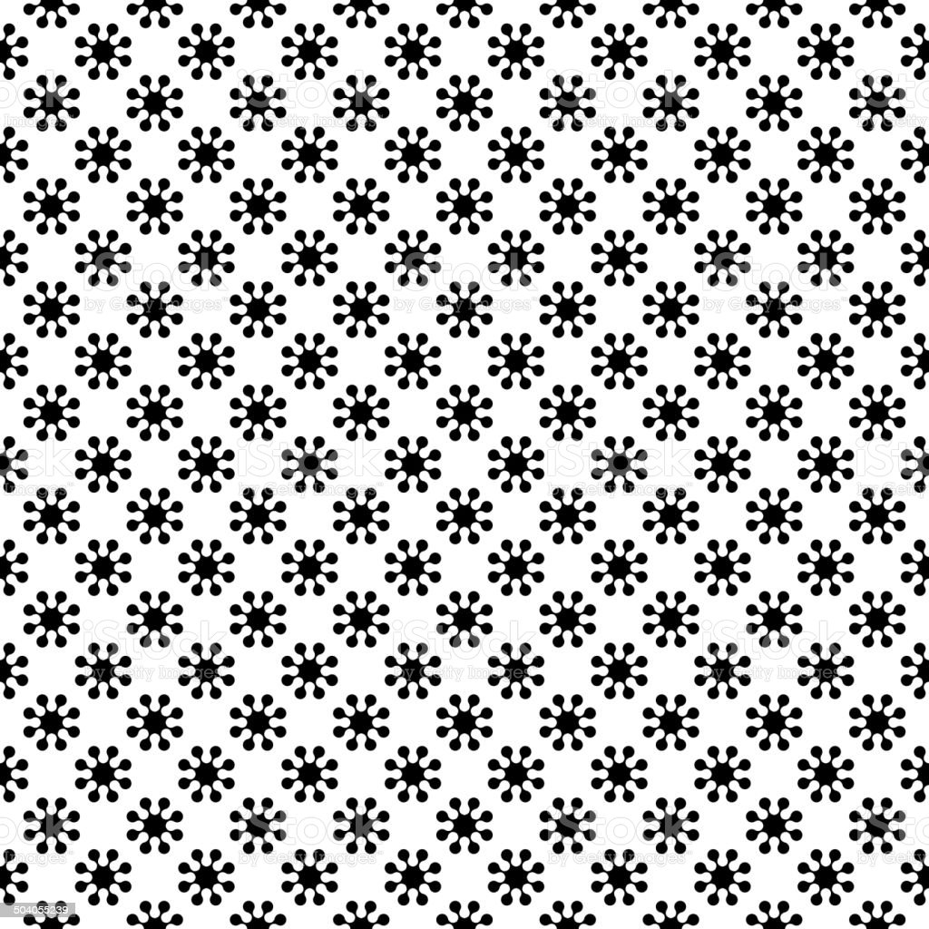 Black Scratched Blotch Seamless Pattern Background. Vector royalty-free stock vector art
