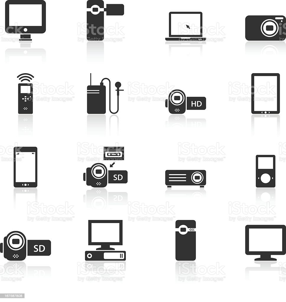 Black Series Electronics' Product Renderings vector art illustration