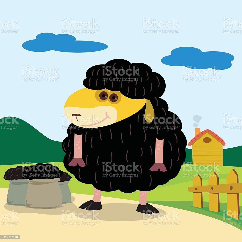 Black Sheep royalty-free stock vector art