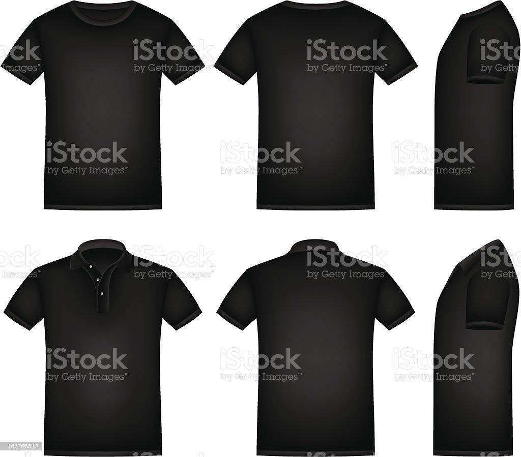 Black Shirt vector art illustration