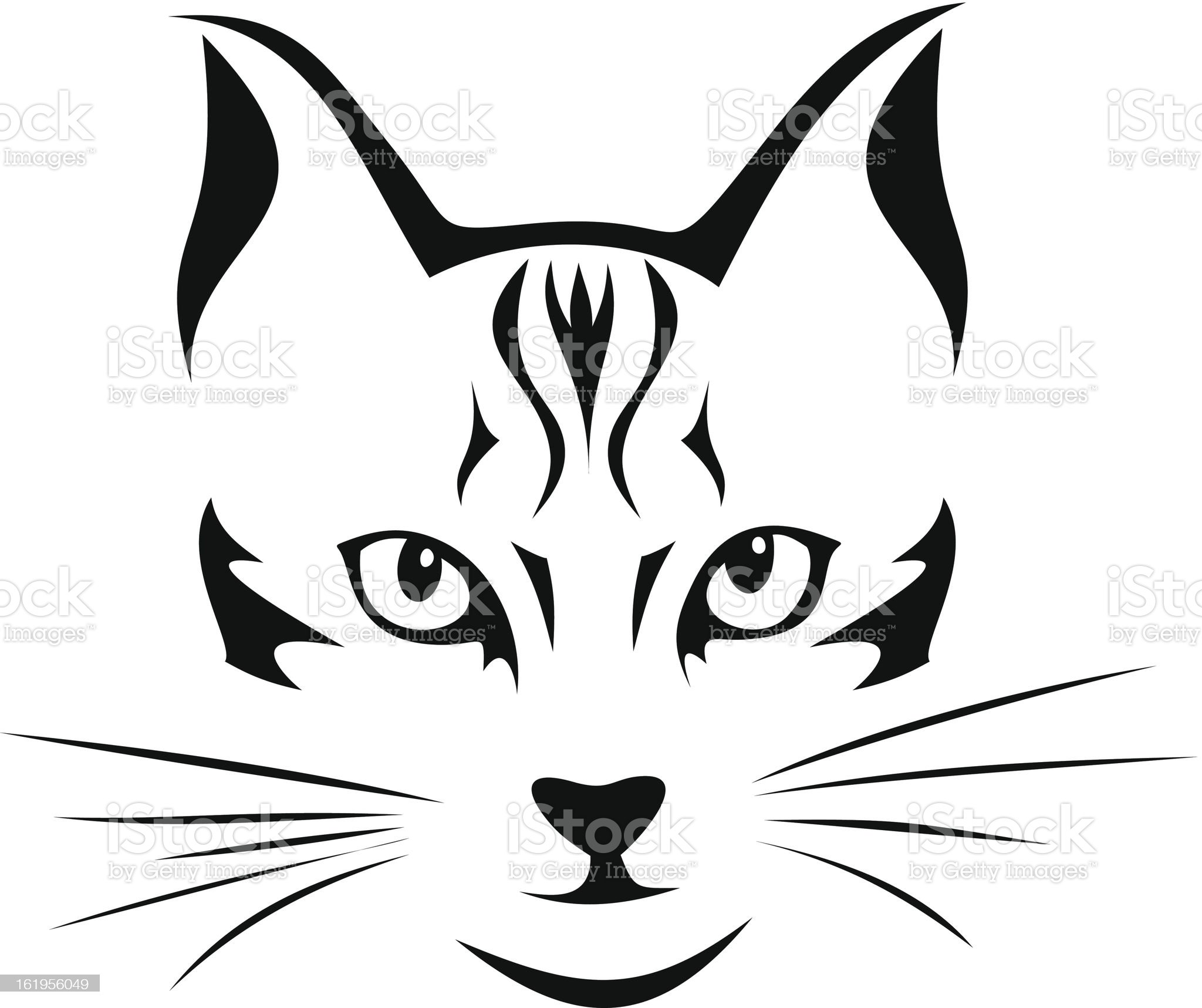 Black silhouette of cat. Vector illustration. royalty-free stock vector art