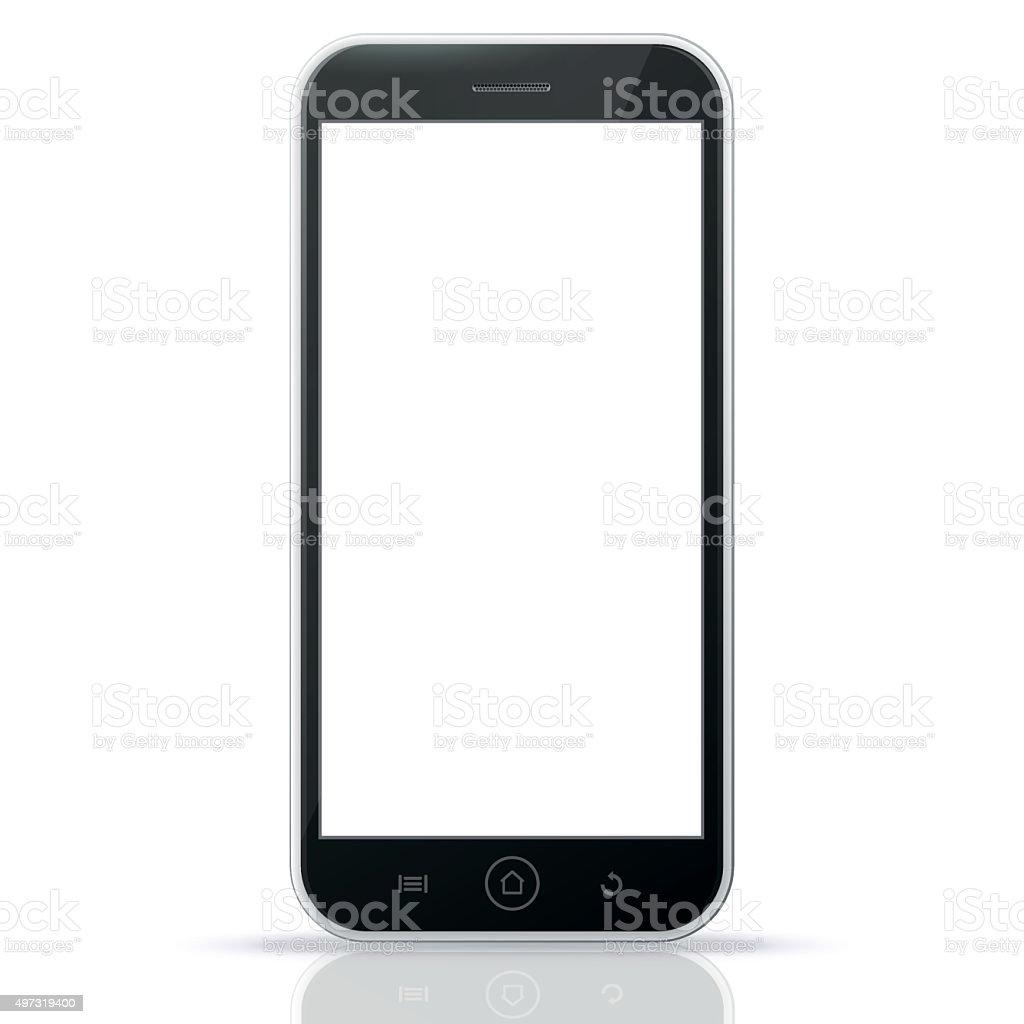 Black Smart Phone vector art illustration