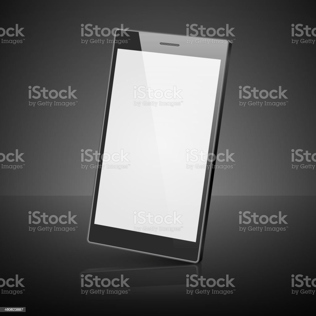 Black smartphone isolated on white background. royalty-free stock vector art