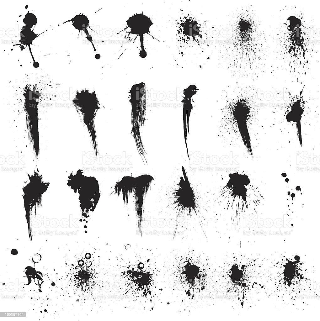 black spots royalty-free stock vector art