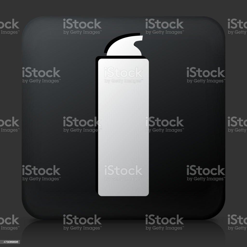 Black Square Button with Shaving Cream Icon vector art illustration