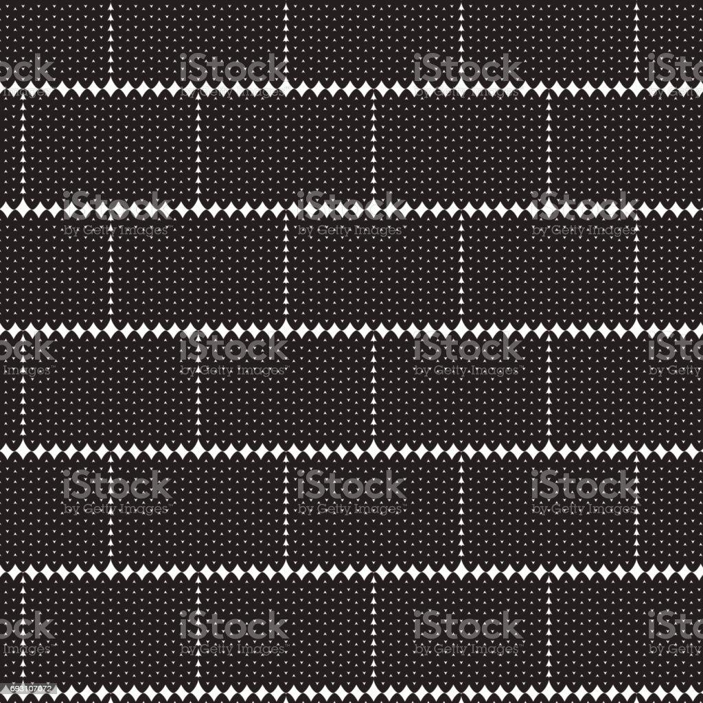 black square shape knitting overlapped pattern background vector art illustration