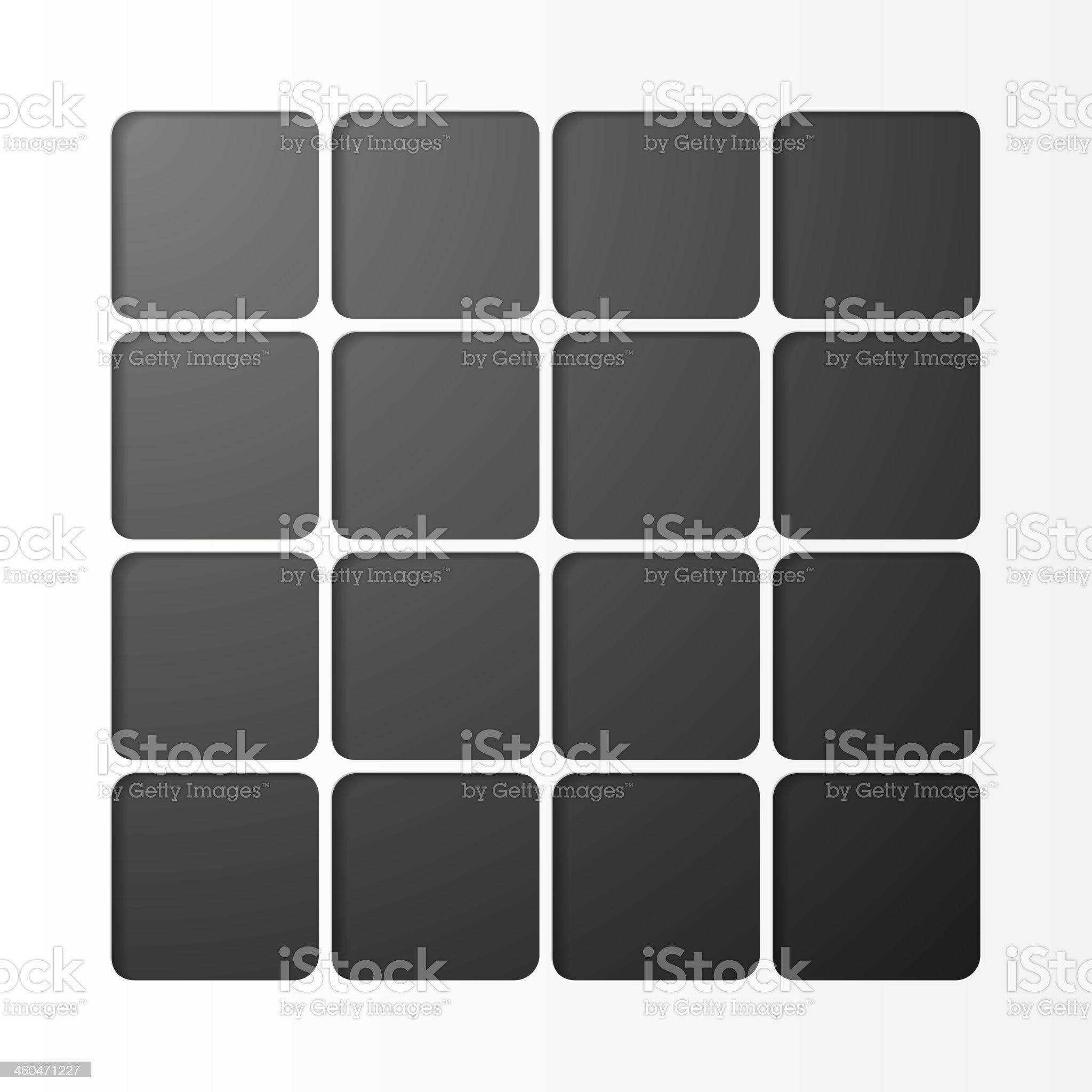 Black squares design royalty-free stock vector art
