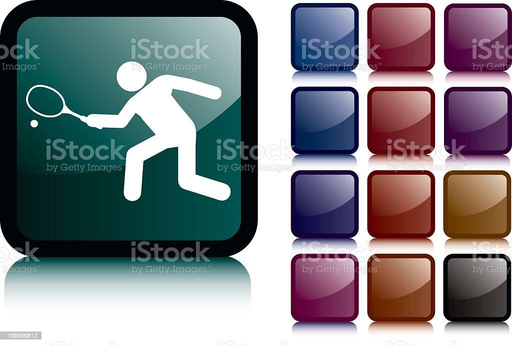 Black Squash Man Icon royalty-free stock vector art