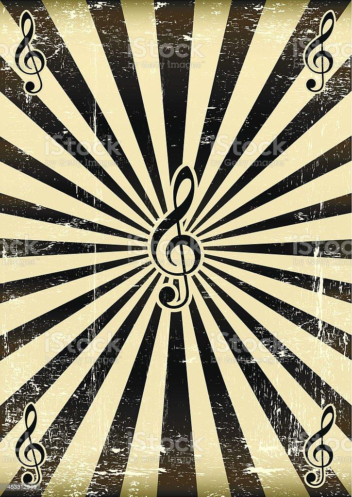 Black sunbeam music royalty-free stock vector art