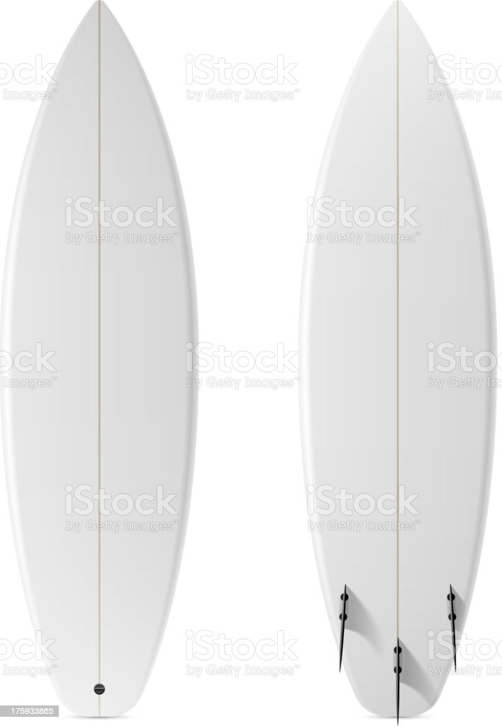Black surfboard mock up template royalty-free stock vector art