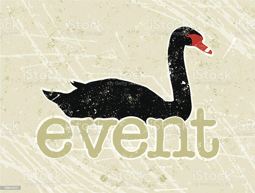 Black Swan Event Text vector art illustration