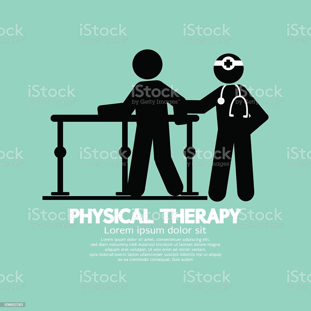 Black Symbol Physical Therapy vector art illustration