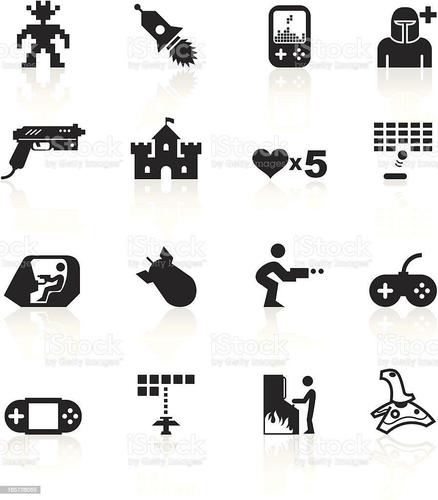 Black Symbols - Arcade Gaming royalty-free stock vector art