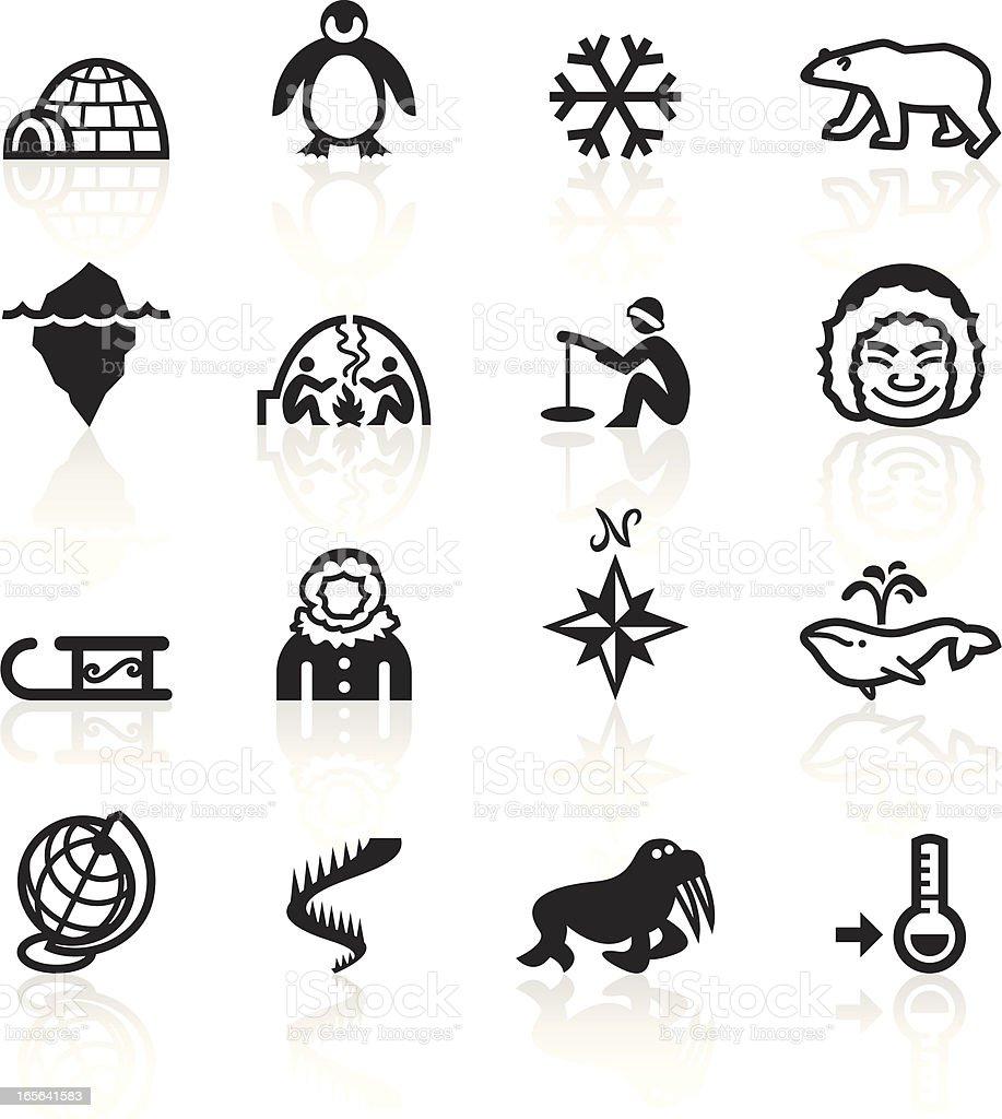 Black Symbols - Arctic royalty-free stock vector art