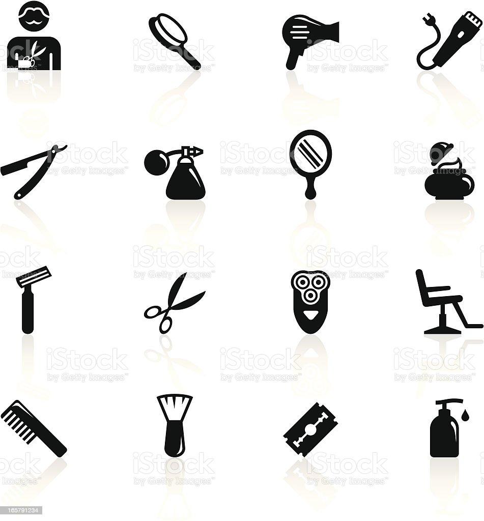 Black Symbols - Barbershop vector art illustration