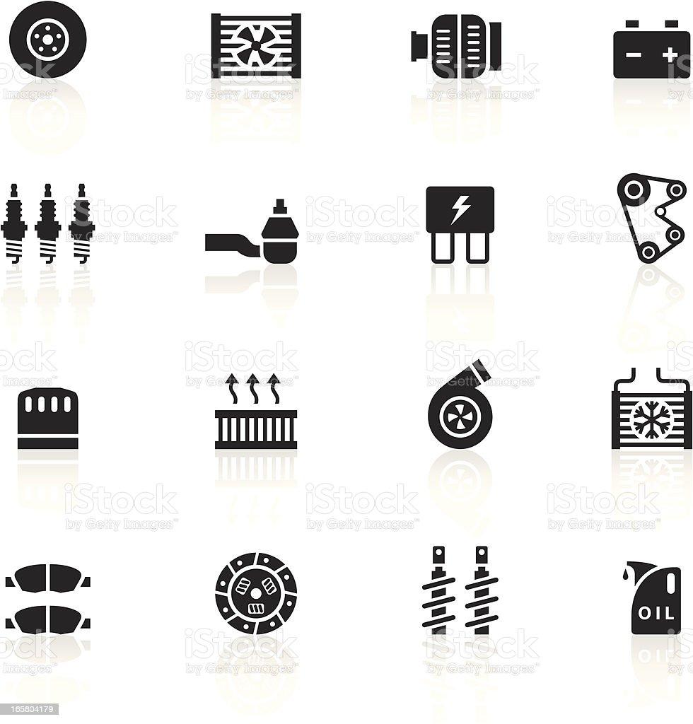 Black Symbols - Car Maintenance vector art illustration