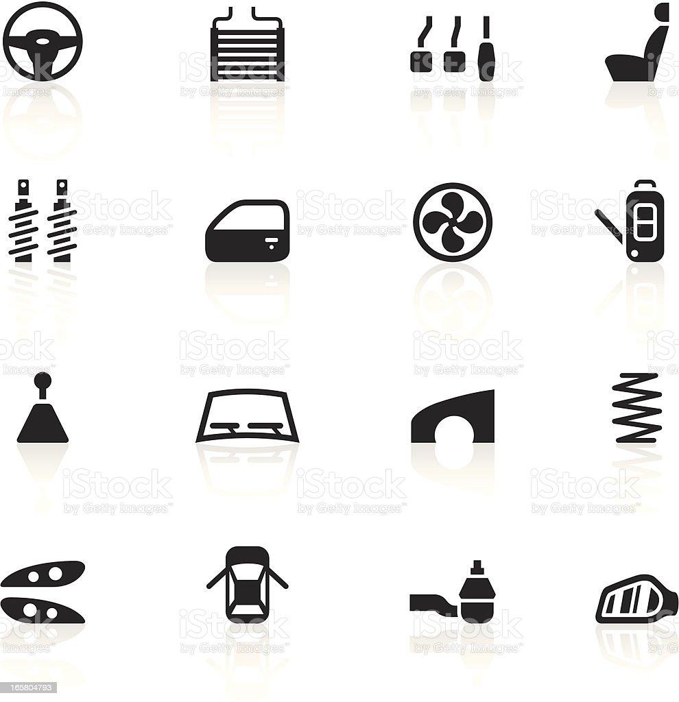 Black Symbols - Car Parts vector art illustration