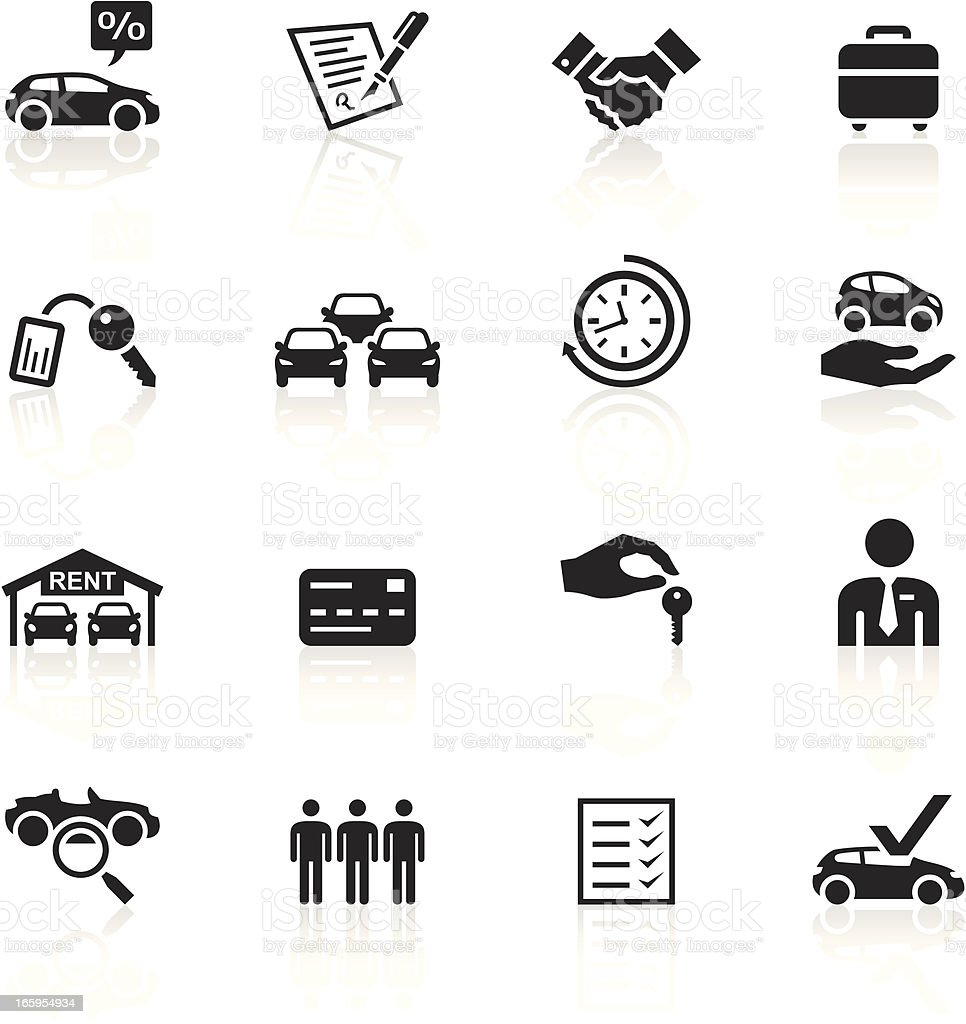 Black Symbols - Car Rental vector art illustration