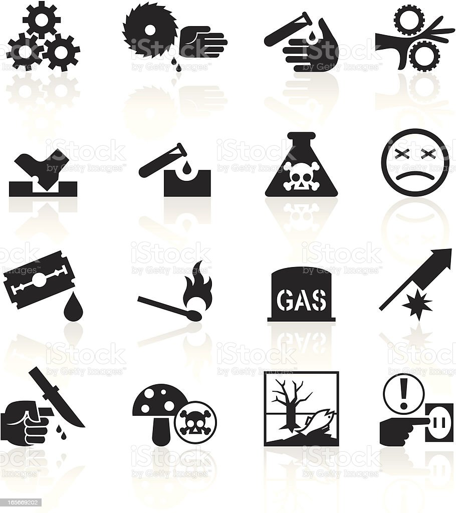 Black Symbols - Caution vector art illustration