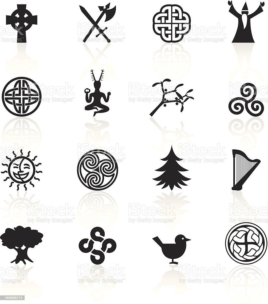 Black Symbols - Celtic royalty-free stock vector art