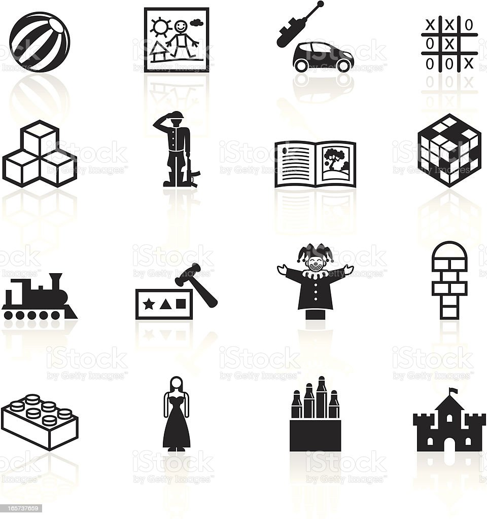 Black Symbols - Childplay and Toys royalty-free stock vector art