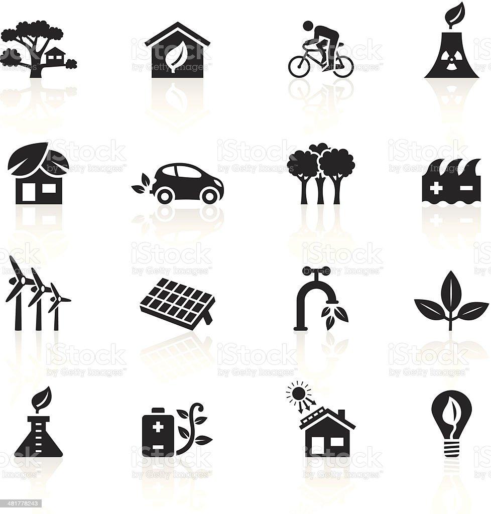Black Symbols - Clean & Green vector art illustration