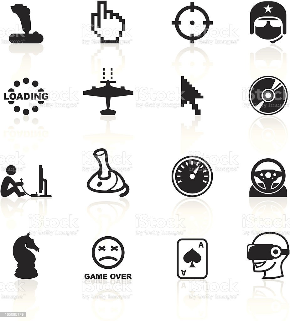 Black Symbols - Computer Gaming royalty-free stock vector art