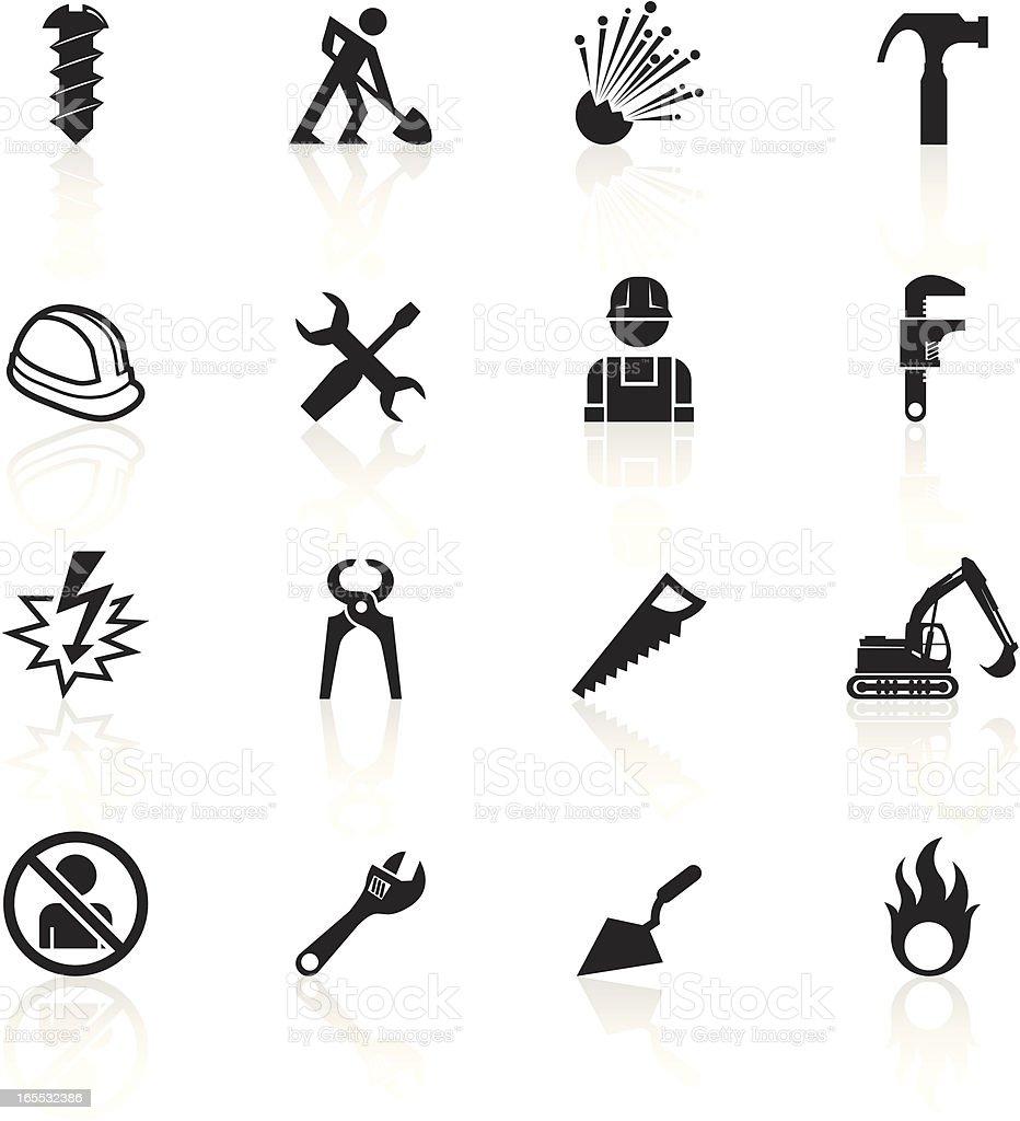 Black Symbols - Construction royalty-free stock vector art