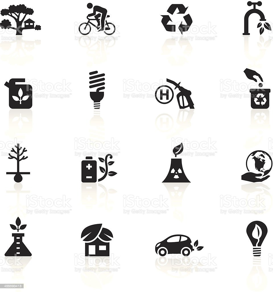 Black Symbols - Eco Friendly royalty-free stock vector art