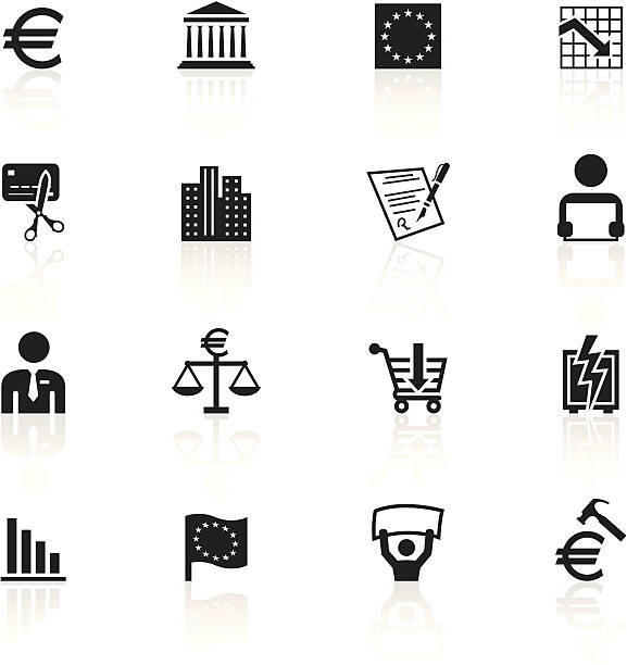 Euro Symbol Clip Art, Vector Images & Illustrations - iStock