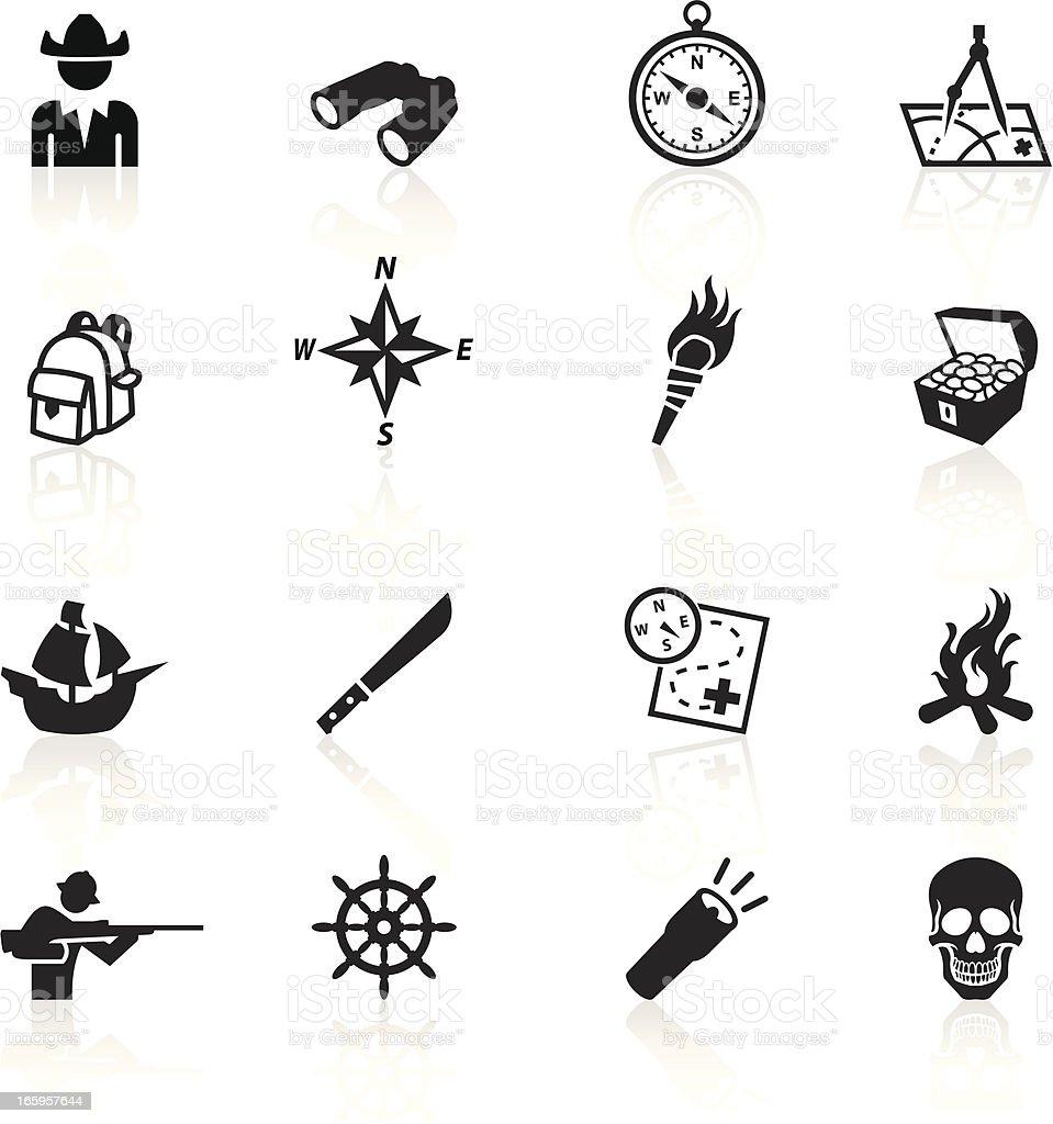 Black Symbols - Exploration vector art illustration