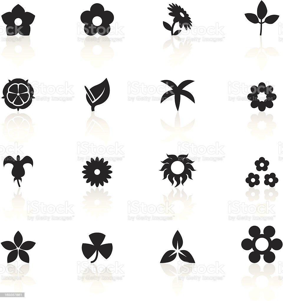 Black Symbols - Flowers royalty-free stock vector art
