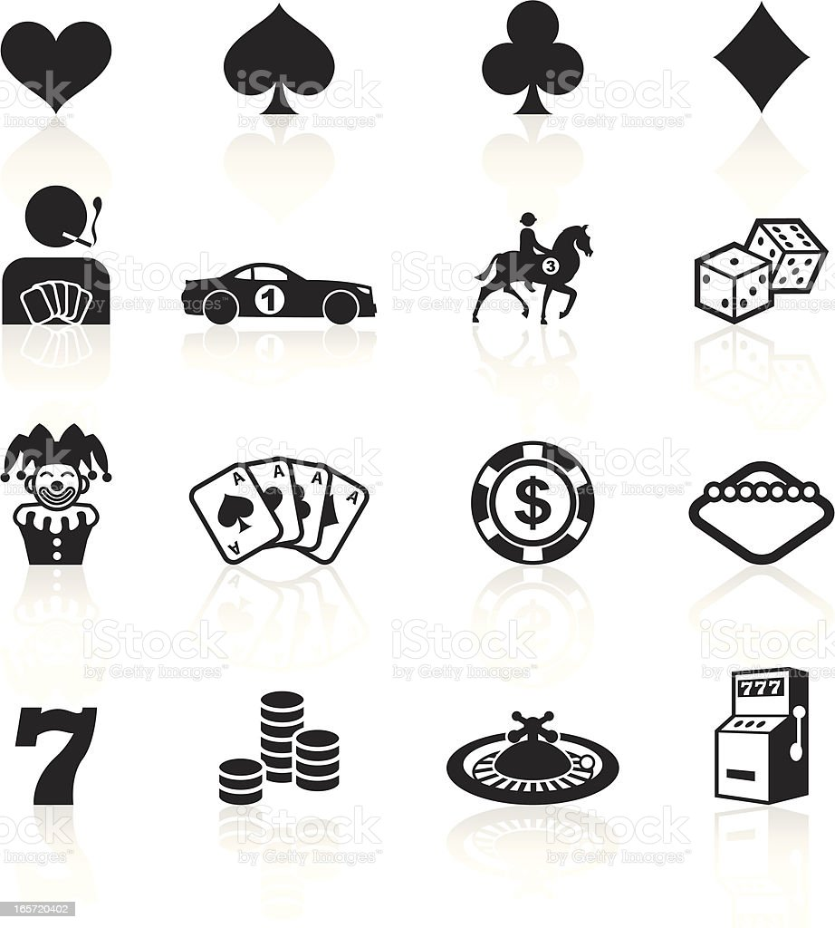 Black Symbols - Gambling royalty-free stock vector art
