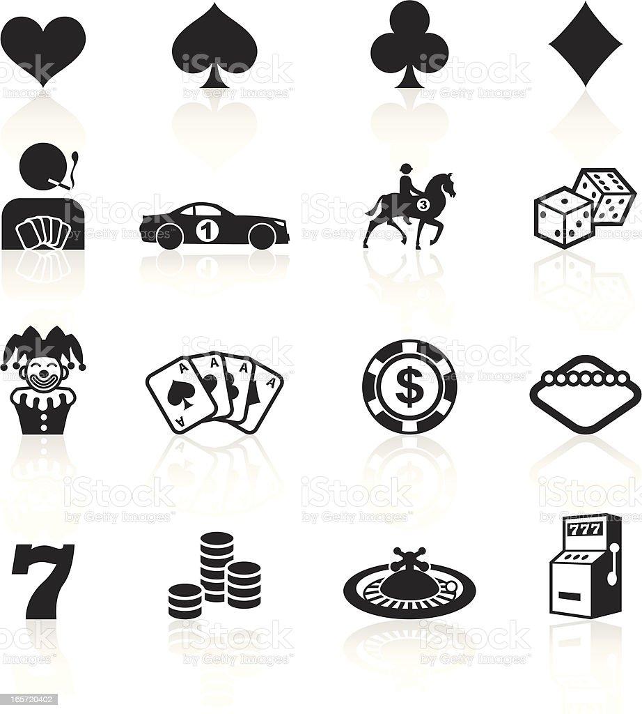 Black Symbols - Gambling vector art illustration
