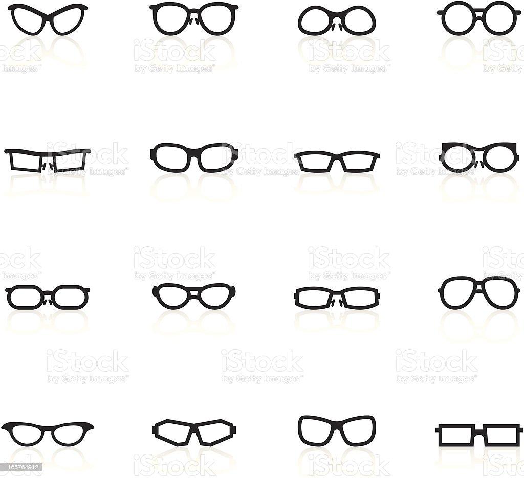 Black Symbols - Glasses royalty-free stock vector art