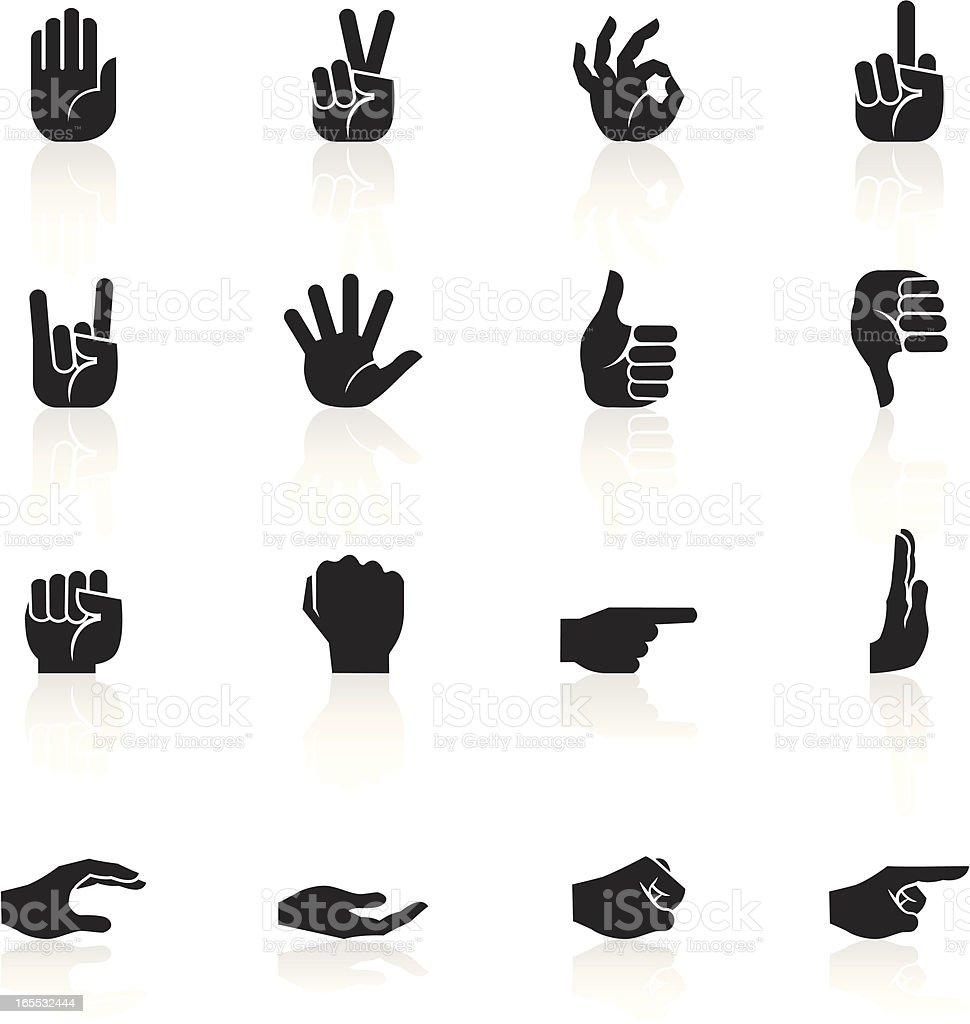 Black Symbols - Hands vector art illustration