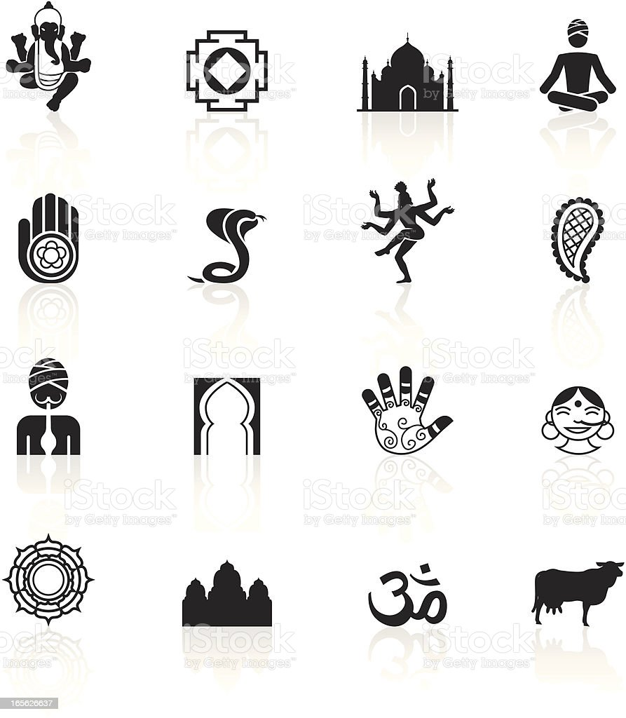 Black Symbols - India royalty-free stock vector art