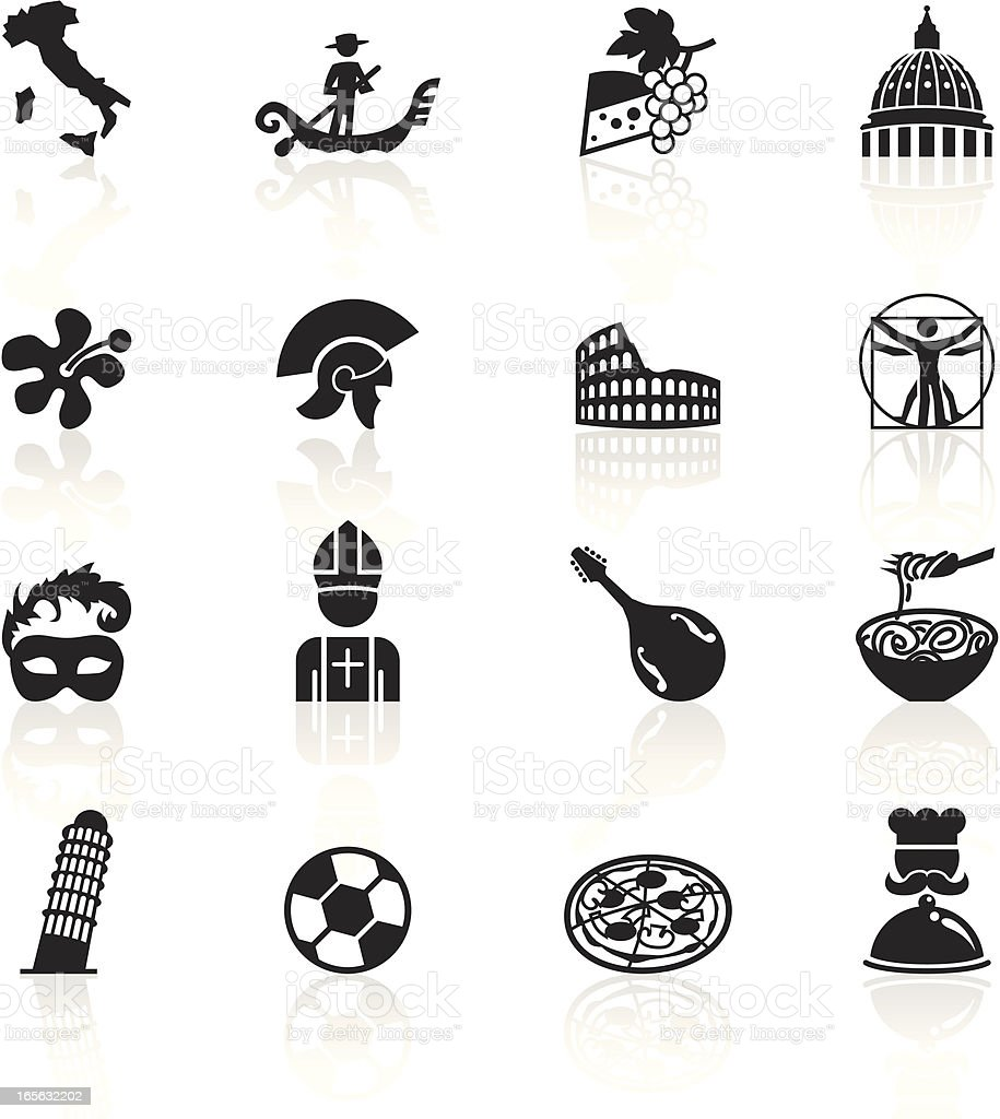 Black Symbols - Italy royalty-free stock vector art
