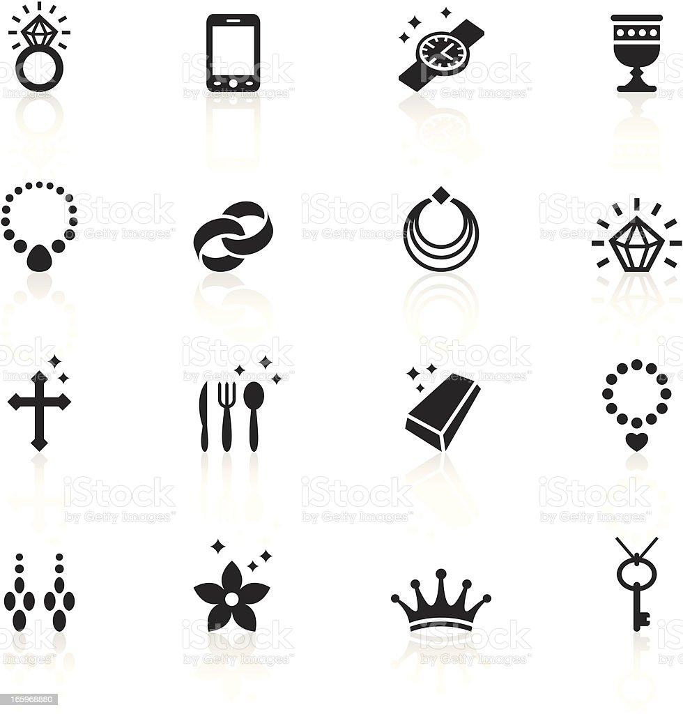 Black Symbols - Jewellery vector art illustration