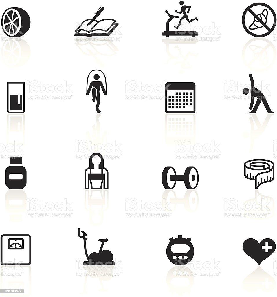 Black Symbols - Loosing Weight vector art illustration
