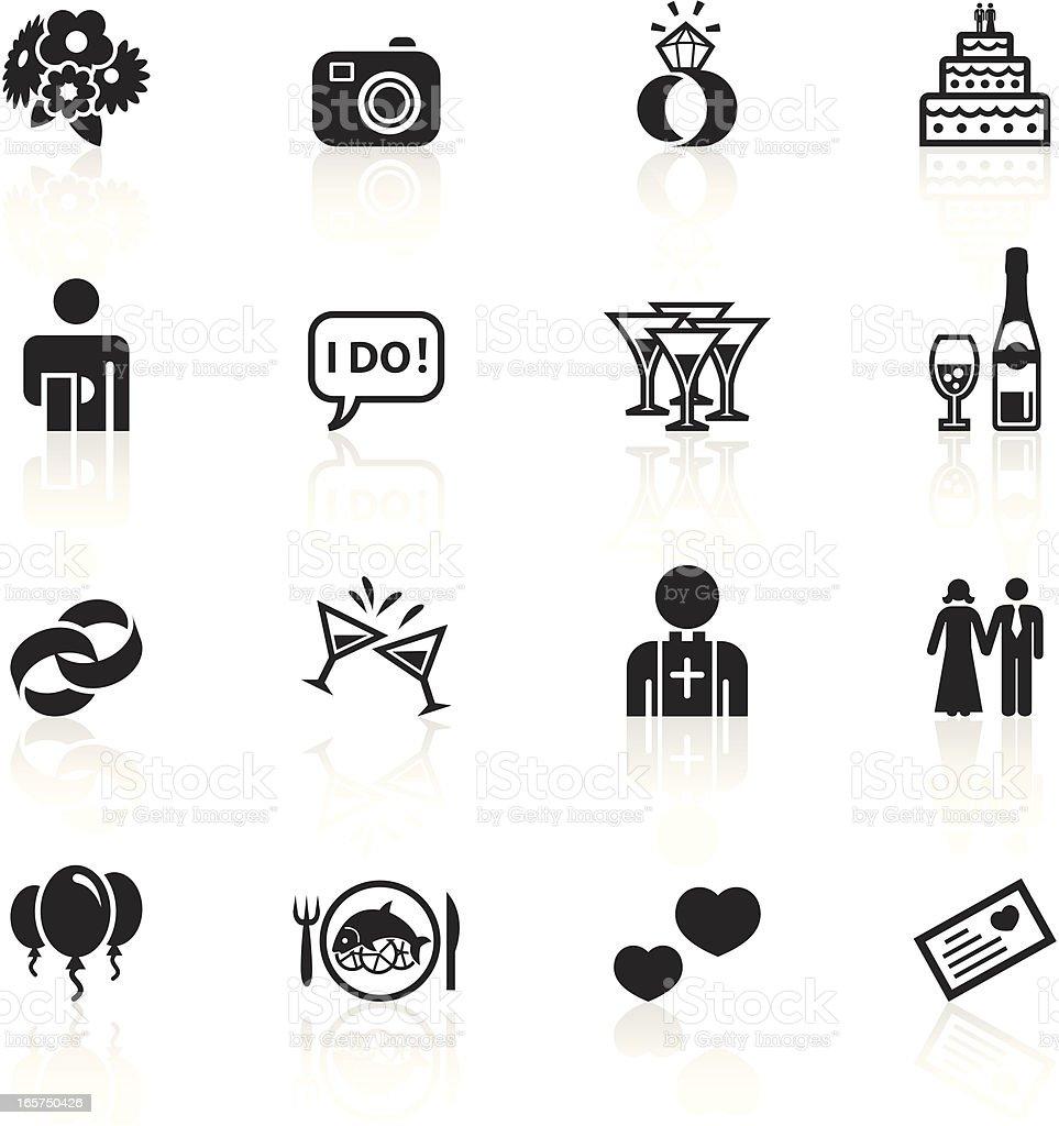 Black Symbols - Marriage royalty-free stock vector art
