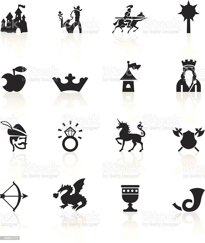 Black Symbols - Medieval Fairytale royalty-free stock vector art