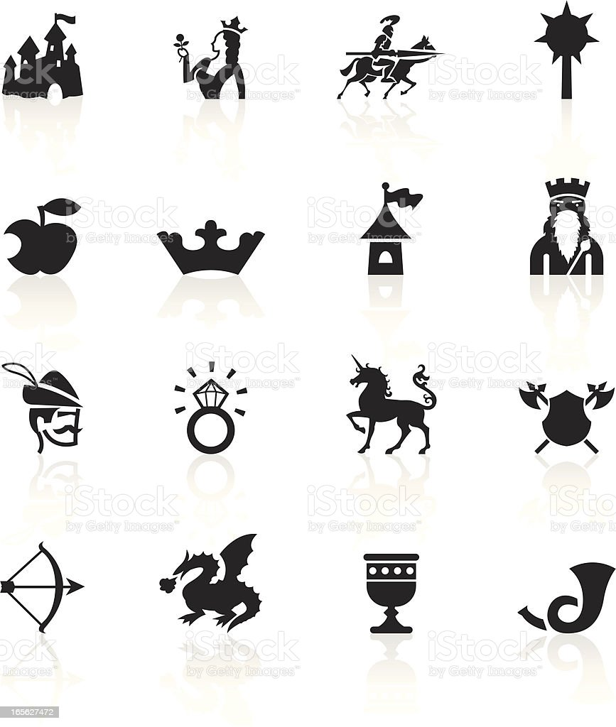Black Symbols - Medieval Fairytale vector art illustration